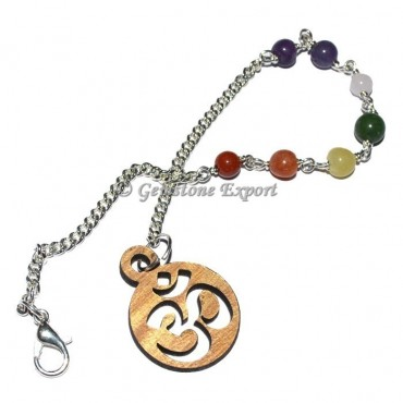 Chakra Chain Beads with Om