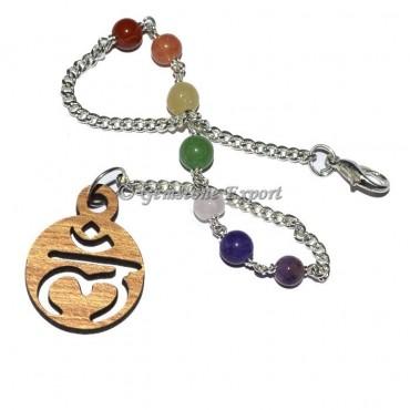 Chakra chain beads with Lam