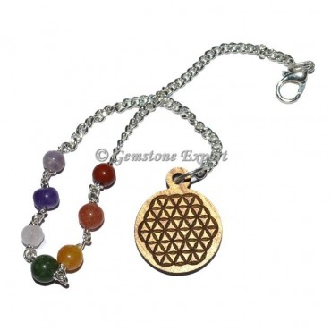Chakra Chain Beads with Flower of life