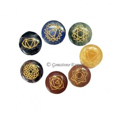 Seven Chakra Engraved Disc Set