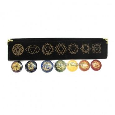 Seven Chakra Disc Set With Velvet Packing