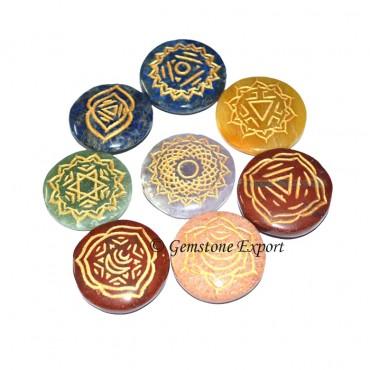 Thymus Chakra Circle Symbol set