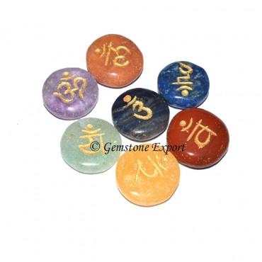 Seven Chakra Sanskrit Disc Set