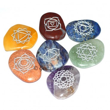 Seven Chakra Engraved Unshape Set