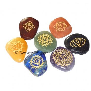 7 Chakra Engraved Unshape Set