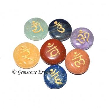 7 Chakra Sanskrit Disc Set