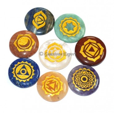 Engraved Chakra Power Set