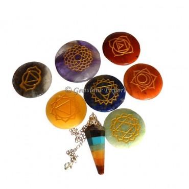 Engraved Chakra Pendulum Kit