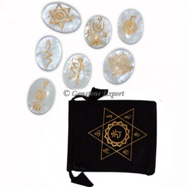 Chakra Crystal Quartz Oval Set