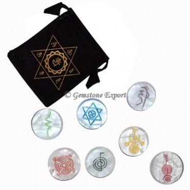 Chakra Crystal Quartz Disc Color Set