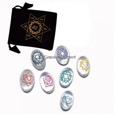Engraved Crystal  Chakra Fancy Symbol Set