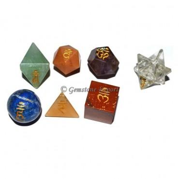 Engraved Chakra Geometry Set