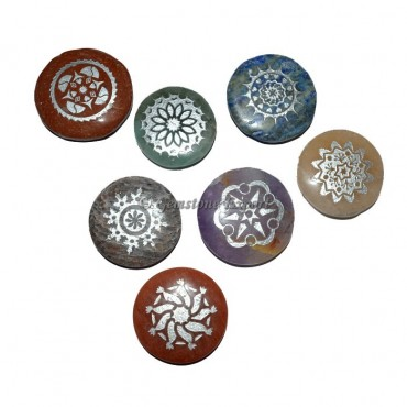 Engraved Beautiful Chakra Symbol disc Set