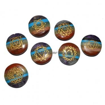 Engraved Chakra Symbol Bonded Disc Set