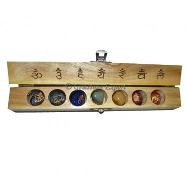 Chakra Sanskrit Tumbled Set with Carving Box