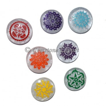 Color Chakra Healing Energy Symbol Set