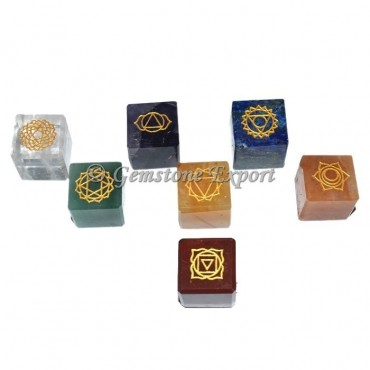 Chakra Engraved Symbol Cube Set