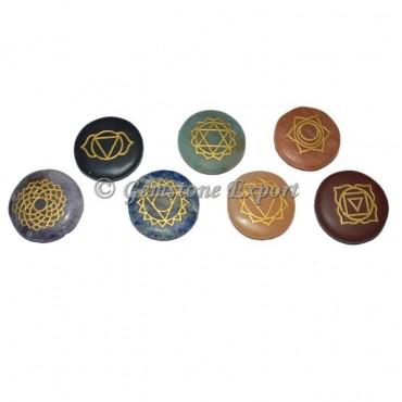 Engraved Chakra Disc Set