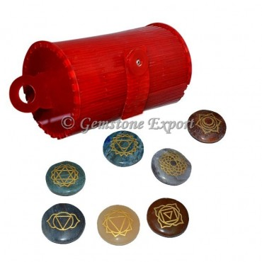 Engraved Chakra Symbol Set with Red Box