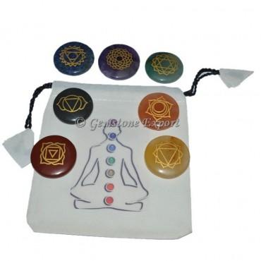 Chakra Set With Buddha Pouch