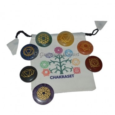 Chakra Set With Life Of Tree Pouch