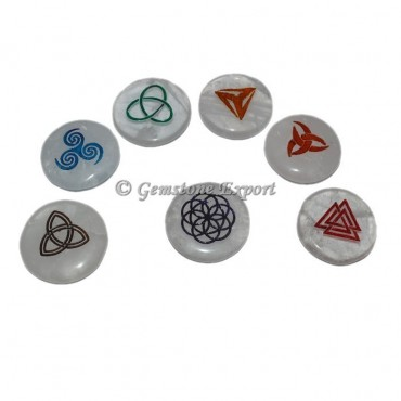 Crystal Quartz 7 Chakra Celtic Set
