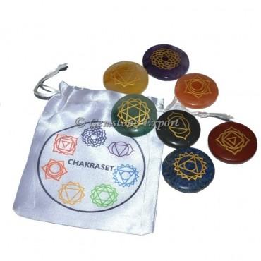 Balancing Seven Chakra Engraved Set