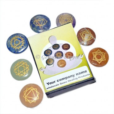 Engraved Seven Chakra Set