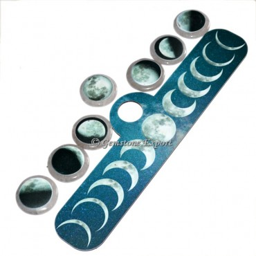 Moon Phase on Crystal Quartz Seven Chakra Set