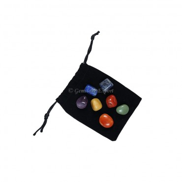 Seven Chakra Tumbled Set With Pouch