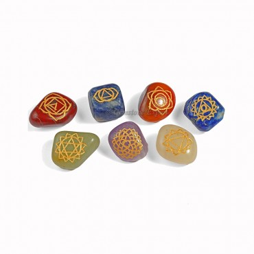 Chakra Engraved Tumble Set