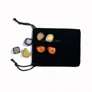 Chakra Engraved Set With pouch