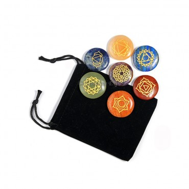 Circle Seven Chakra Set with Pouch