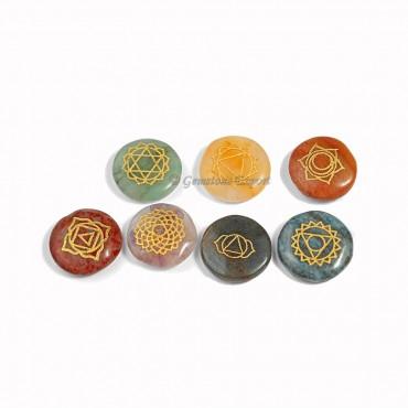 Engraved Chakra Circle set