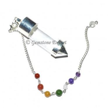Seven Chakra Pyrex Glass Chamber Pendulum