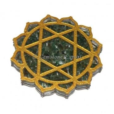Green Aventurine Heart Chakra Coaster