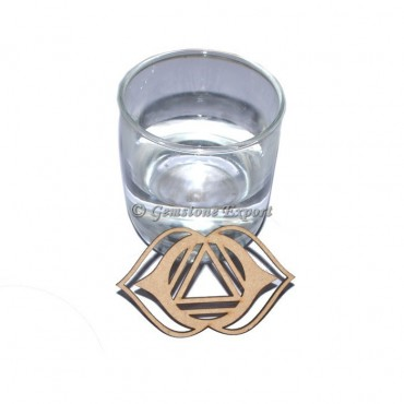 Third Eye Chakra Wooden Coaster