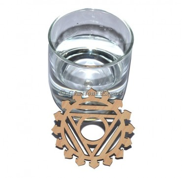 Throat Chakra Wooden Coaster