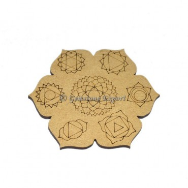 Seven Chakra Engraved Coaster