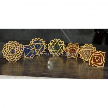 Seven Chakra Orgone Coaster Set