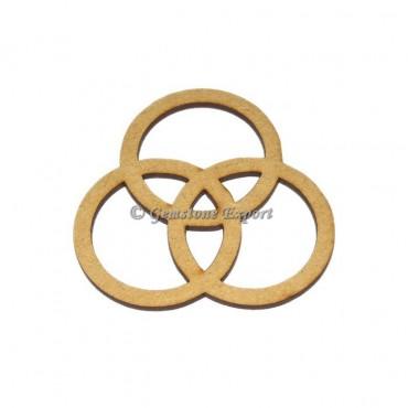 Celtic Design Round Wooden Coaster