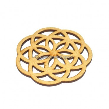 Flower Of Life Wooden Coaster