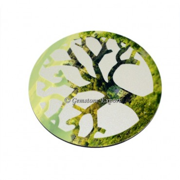 Fancy Tree Of Life Wooden Coaster