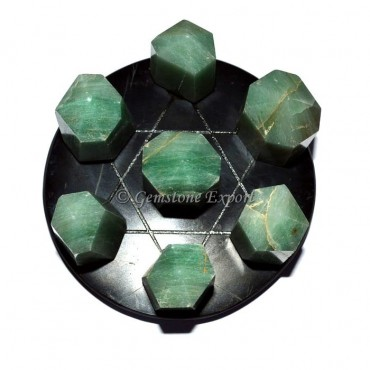 Black Agate Pentagram David Star Set