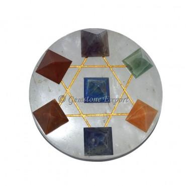 Seven Chakra Pyramids Set