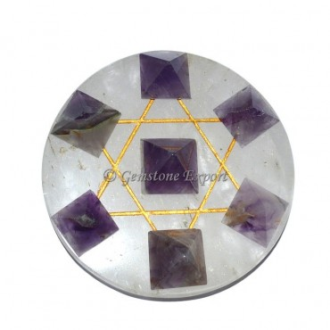 David Star with Amethyst Pyramids