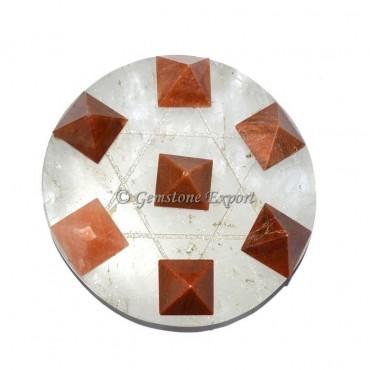 Crystal Quartz Pyramids Set