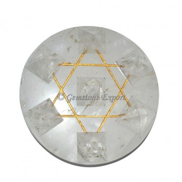 Crystal Quartz Base with Crystal Quartz Pyramids