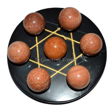 Gold Engraved Pentagram Ball Set