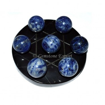 Sodalite Sphere David Star Set